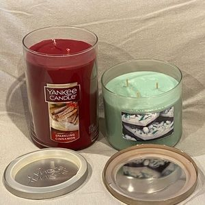 Lot of 2 scented multi-wick candles